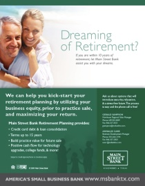 Main Street Bank Retirement Ad