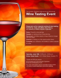 Houston Spartans Wine Tasting Event